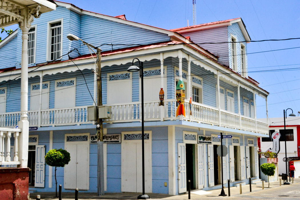 Victorian Houses near the Independence Plaza in Puerto Plata