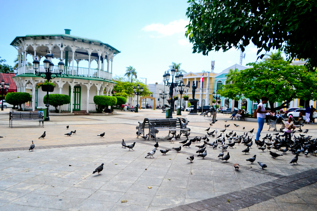 View of the Plaza and its benches