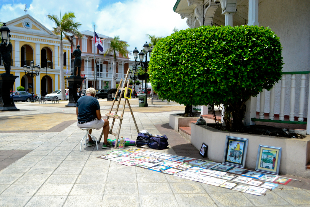 Paintings on the Independence Plaza in Puerto Plata