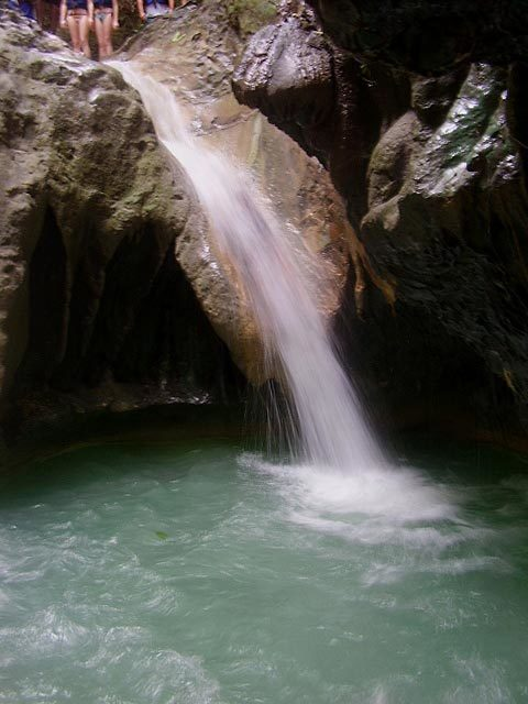 View of one of the waterfalls at the Damajagua River Tour of Marysol Tours